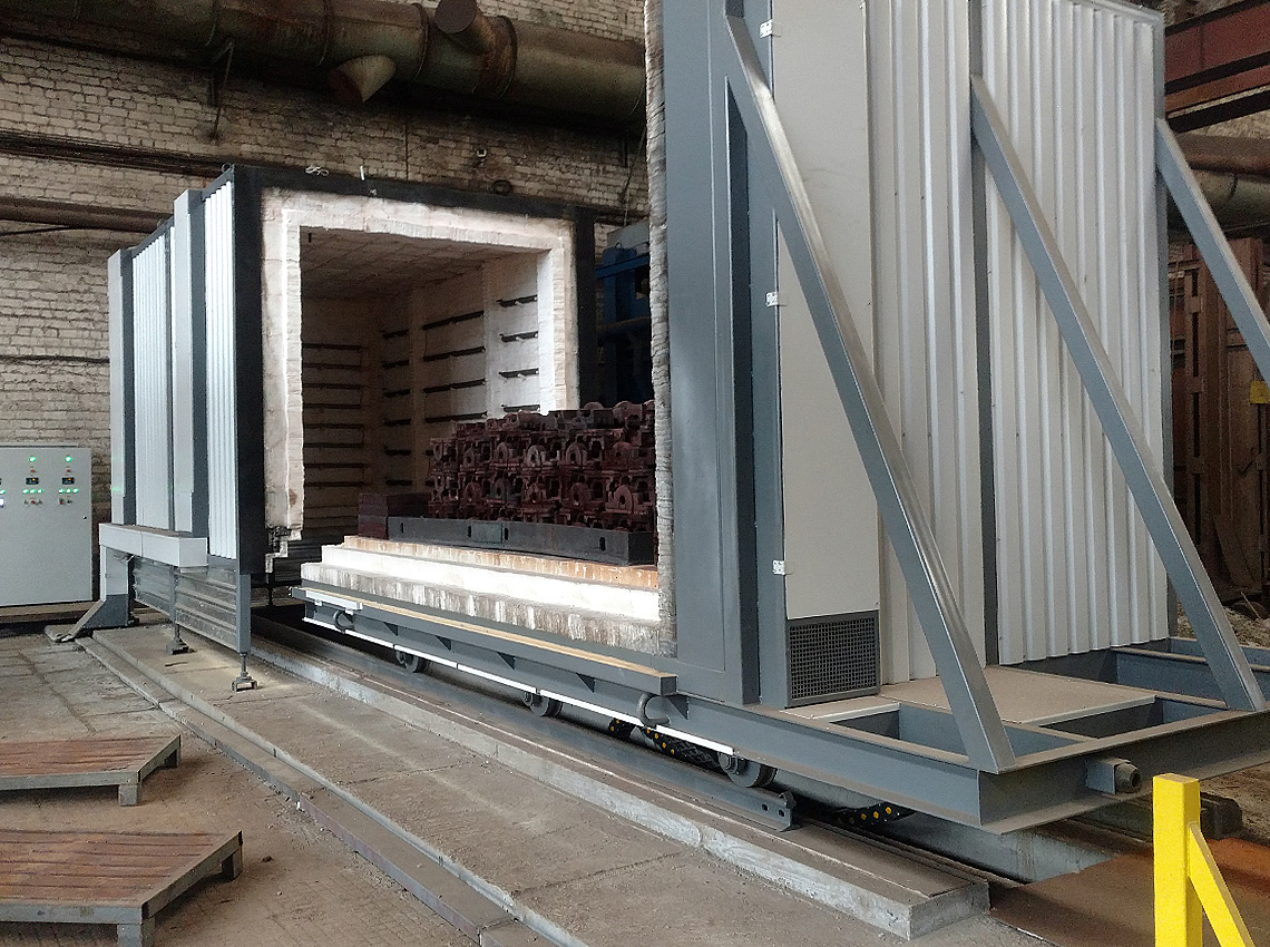 A new thermal furnace with exit pallet has been launched